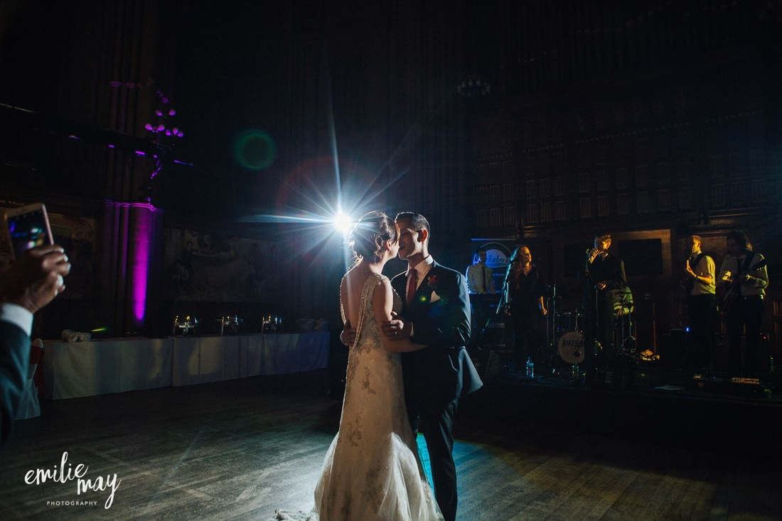 Jukebox wedding band Manchester playing the first dance at Manchester Town Hall
